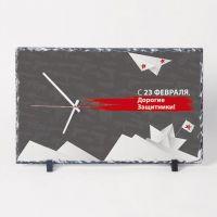 Фотокамень прямоугольный с часами