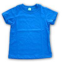 Футболка детская х/б синяя Стандарт (24) 92-98