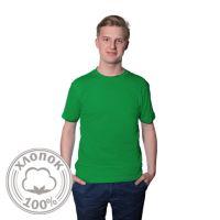 Футболка мужская хлопок светло-зеленая- 46 (М)