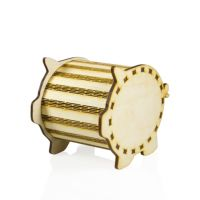 Копилка-монетница свинья, дерево 115х77х95 мм