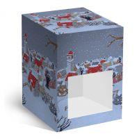 Коробка под елочный шарик Снегопад