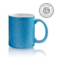 Кружка керамика синяя перламутровая 330мл