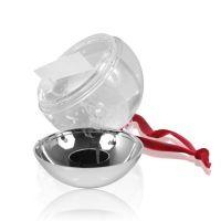 Ёлочный шар водяной с хлопьями в виде снежинок D70мм премиум