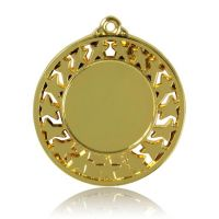 Медаль HB103 золото D50мм, D вкладыша 30мм