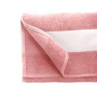Полотенце махровое 50*90 см, 350 г/м2, хлопок, с 1 полем под сублимацию, розовый (312)