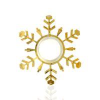 Снежинка-подвеска золото 100х3х113мм