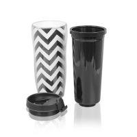 Стакан для кофе пластик прозрачный под полиграф вставку 350 мл