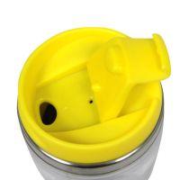 Термостакан металл жёлтый под полиграф вставку 400 мл